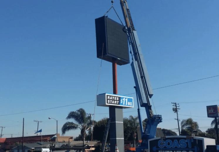 EMC Sign installation in Los Angeles