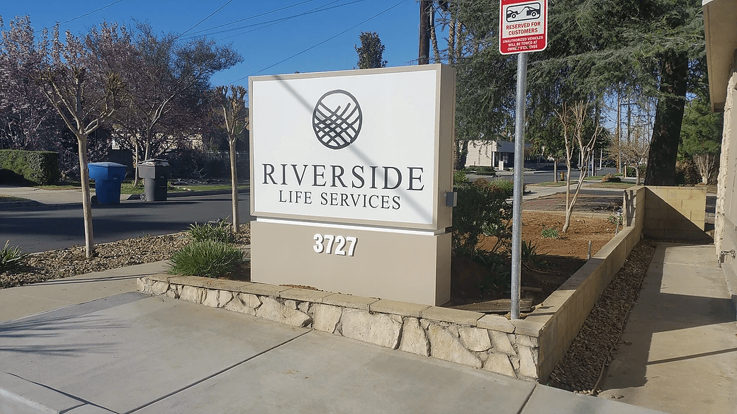 Riverside Life Services custom monument signs